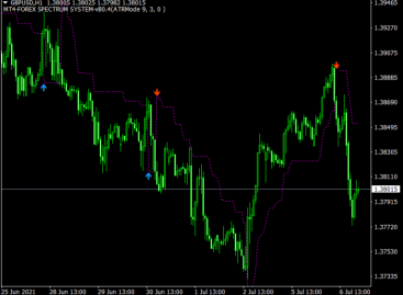 Exit Entry Trend Indicator
